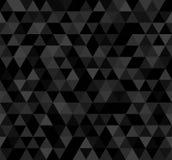 Naadloos donker abstract patroon Geometrische die druk uit driehoeken wordt samengesteld Zwarte mozaïekachtergrond Royalty-vrije Stock Afbeeldingen