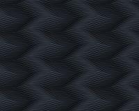 Naadloos donker zwart golvend patroon Eindeloze textuur Royalty-vrije Stock Foto