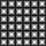 Naadloos donker zwart-wit geometrisch patroon met zwarte vierkanten en witte sterren Moderne 3d druk stock illustratie