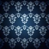 Naadloos donkerblauw behang in retro stijl Stock Afbeeldingen