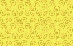 Naadloos donutspatroon Royalty-vrije Stock Fotografie