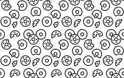 Naadloos donutspatroon Stock Foto