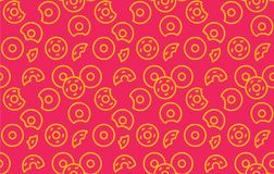 Naadloos donutspatroon Stock Afbeelding