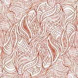 Naadloos doodling patroon in de etnische oosterse stijl van de tekeningshenna vector illustratie