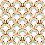 Naadloos Dot Hearts Arch Pattern stock fotografie