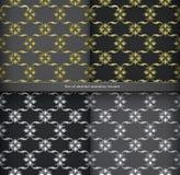 Naadloos duur Victoriaans patroon in retro wijnoogst Stock Afbeelding