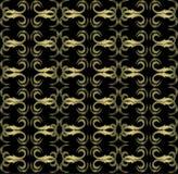 Naadloos duur Victoriaans patroon in retro wijnoogst Stock Foto's