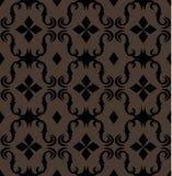 Naadloos duur Victoriaans patroon in retro wijnoogst Stock Afbeeldingen