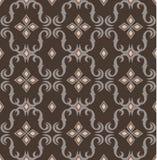 Naadloos duur Victoriaans patroon in retro wijnoogst Stock Foto