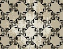 Naadloos ecologisch patroon op grungeachtergrond Royalty-vrije Stock Fotografie