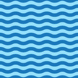 Naadloos eenvoudig blauw golfpatroon stock illustratie