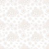 Naadloos eenvoudig bloemenpatroon Stock Afbeelding
