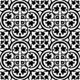 Naadloos elegant bloemenpatroon met zwarte tracery Royalty-vrije Stock Fotografie