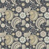 Naadloos elegant Paisley patroon Royalty-vrije Stock Afbeeldingen