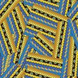 Naadloos etnisch abstract patroon Stock Foto