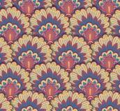 Naadloos etnisch patroon met bloemenmotieven Mandala gestileerd drukmalplaatje voor stof en document Boho elegant ontwerp Stock Foto's