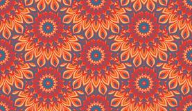 Naadloos etnisch patroon met mandala Uitstekende decoratieve elementen Hand Getrokken Achtergrond Motieven van de islam de Arabis Royalty-vrije Stock Foto's