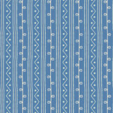 Naadloos etnisch Vectorpatroon Takjeslijnen en zigzag met cirkels blauwe en witte achtergrond Hand getrokken astract textuur Royalty-vrije Stock Foto