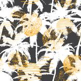 In naadloos exotisch patroon met tropische installaties Modern abstract ontwerp voor document, behang, dekking, stof en andere ge vector illustratie