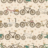 Naadloos fietspatroon Stock Afbeeldingen