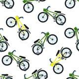 Naadloos fietspatroon Jonge geitjesfietsen Stock Fotografie