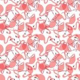 Naadloos flamingopatroon royalty-vrije illustratie