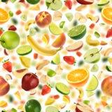 Naadloos fruitpatroon stock foto