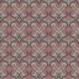 Naadloos gebreid grijs, roze Skandinavisch ornament Roze ornament royalty-vrije stock afbeeldingen