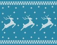 Naadloos Gebreid Patroon met Deers Stock Afbeelding