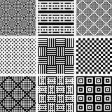 Naadloos gecontroleerd patroon s reeks Geometrische texturen royalty-vrije illustratie
