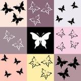 Naadloos gekleurd mozaïek met vlinder Stock Afbeelding
