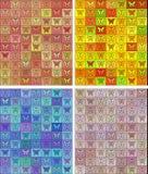 Naadloos gekleurd patroon met vlinders Stock Afbeeldingen