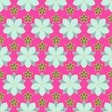 Naadloos gekleurd patroon van lineaire bloemen, Stock Foto's