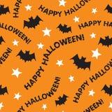 Naadloos Gelukkig Halloween stock illustratie