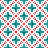 Naadloos geometrisch bloemenpatroon De lenteornament voor gebruik op divers gebied van ontwerp Kleurrijke illustratie royalty-vrije illustratie