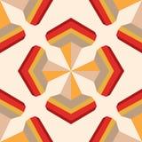 Naadloos geometrisch 3d abstract patroon Stock Afbeelding