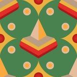 Naadloos geometrisch 3d abstract patroon op groene achtergrond Stock Foto