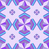 Naadloos geometrisch 3d abstract patroon op purpere achtergrond voor Stock Foto