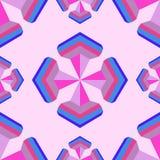 Naadloos geometrisch 3d abstract patroon op roze achtergrond voor DE Stock Fotografie