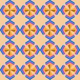 Naadloos geometrisch 3d abstrctpatroon Stock Foto's