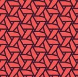 Naadloos geometrisch die patroon van driehoeken wordt gemaakt - eps8 Stock Fotografie