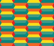 Naadloos geometrisch drie afmetingspatroon Royalty-vrije Stock Fotografie