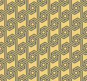 Naadloos geometrisch hexagonaal patroon - vectoreps8 Royalty-vrije Stock Foto's