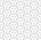 Naadloos geometrisch isometrisch patroon 3D illusie vector illustratie