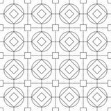 Naadloos geometrisch ontwerppatroon voor textiel Stock Afbeelding