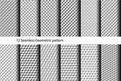 12 naadloos Geometrisch patroon Stock Foto's