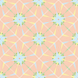 Naadloos geometrisch patroon, blauwe elementen Royalty-vrije Stock Fotografie