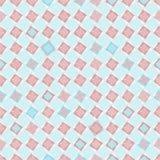 Naadloos geometrisch patroon in bleke kleuren Stock Foto