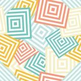 Naadloos geometrisch patroon - chaotische rombus & x28; squares& x29; Stock Afbeelding