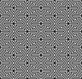 Naadloos Geometrisch Patroon 3D illusie stock illustratie
